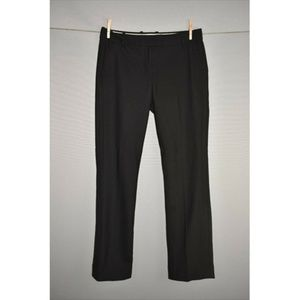 J.CREW Black Campbell Trouser in Two-Way Wool